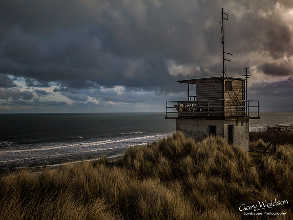 Coastguard station near Bamburgh. Landscape photography by Gary Waidson.