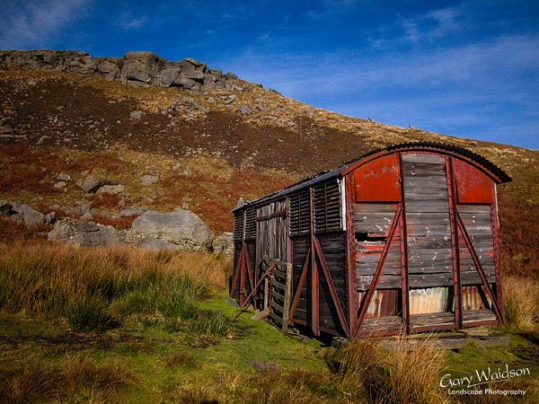 Rail wagon shed in Birkdale. Landscape photography by Gary Waidson.