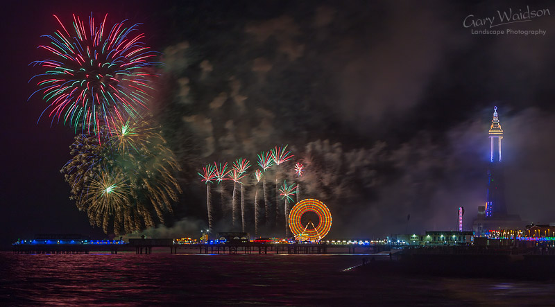 Blackpool Fireworks - Fine Art Landscape Photography by Gary Waidson