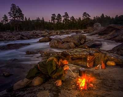 Bushcraft Camping in Norway.