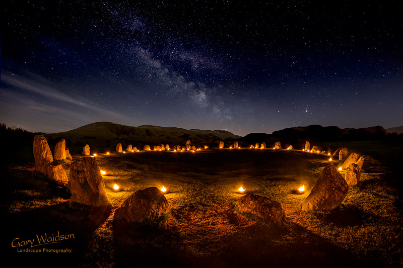 Castlerigg -  Circle of Fire - Waylandscape. Fine Art Landscape Photography by Gary Waidson