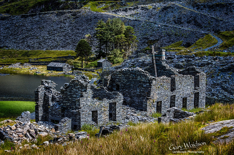 Cwm Orthin Dereliction. Fine Art Landscape Photography by Gary Waidson