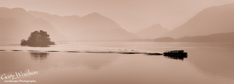 Lith type treatment of Derwent water. Cumbria. Fine Art Landscape Photography by Gary Waidson
