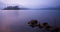 Derwent Water. A spirit level ensures the horizon is correct for a restful image like this.