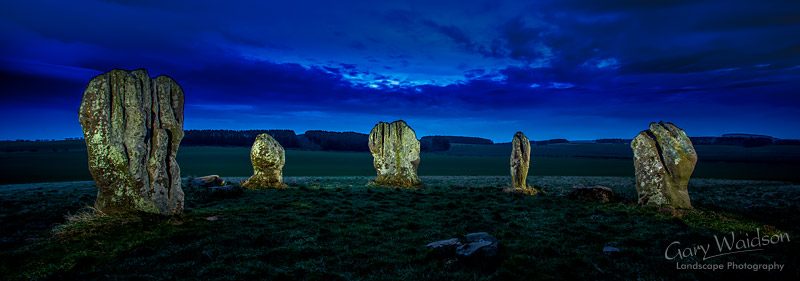 Five Stones of Duddo - ©  Waylandscape. Fine Art Landscape Photography by Gary Waidson