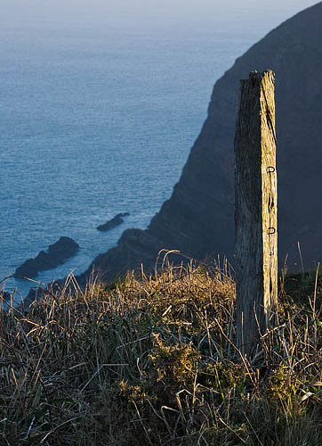 Hartland Point Post. Fine Art Landscape Photography by Gary Waidson