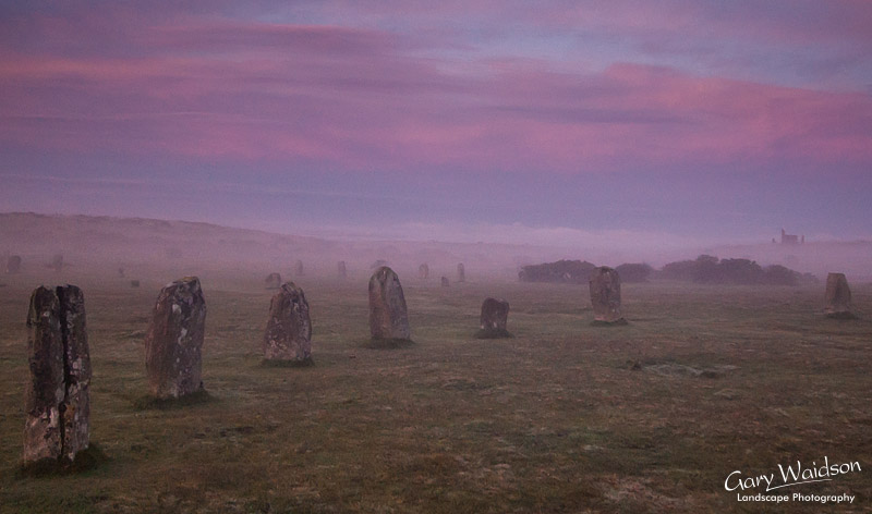 The Hurlers Stone Circles at Dawn. Fine Art Landscape Photography by Gary Waidson