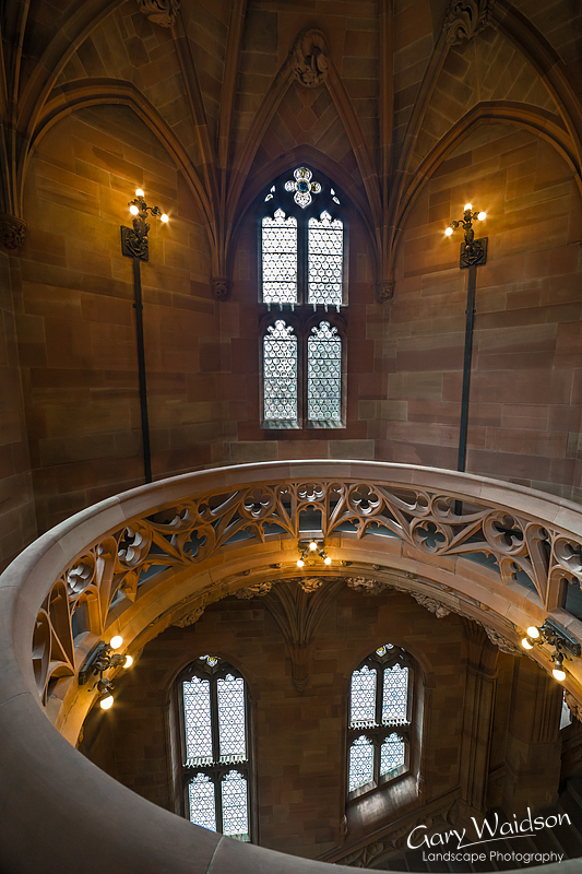 John Ryland's Library, Lightwell. Fine Art Photography by Gary Waidson