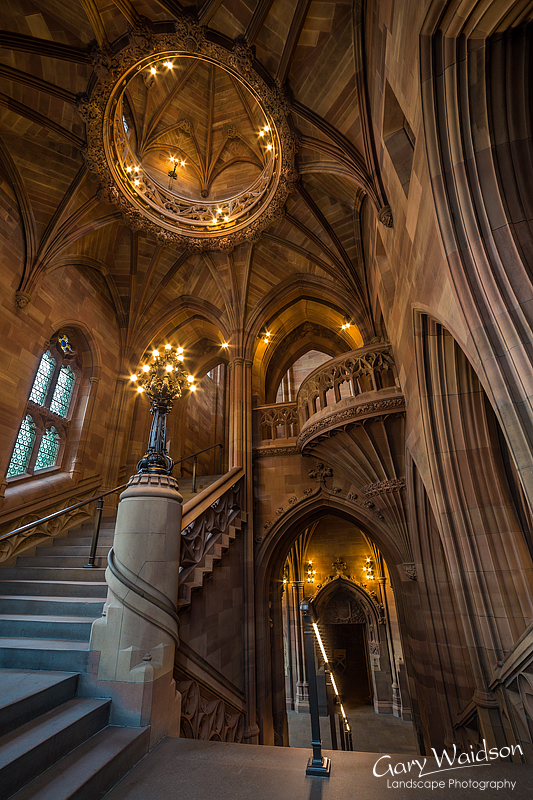 John Ryland's Library, Stairwell. Fine Art Photography by Gary Waidson