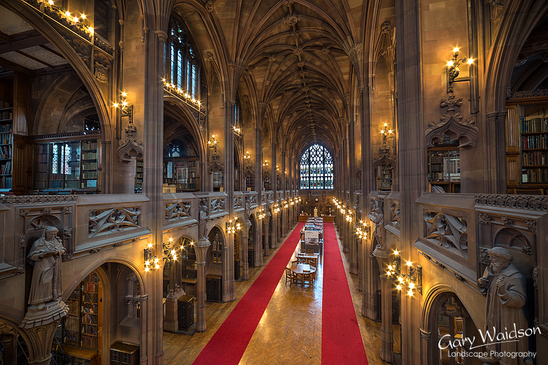 John Ryland's Library, Main Hall. Fine Art Photography by Gary Waidson