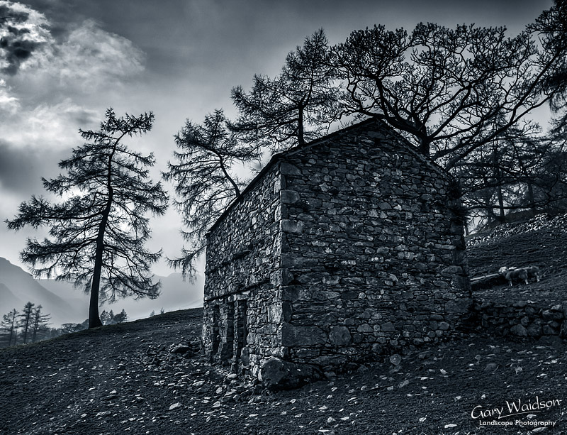 old barn, Langdale, Cumbria. Landscape photography by Gary Waidson.