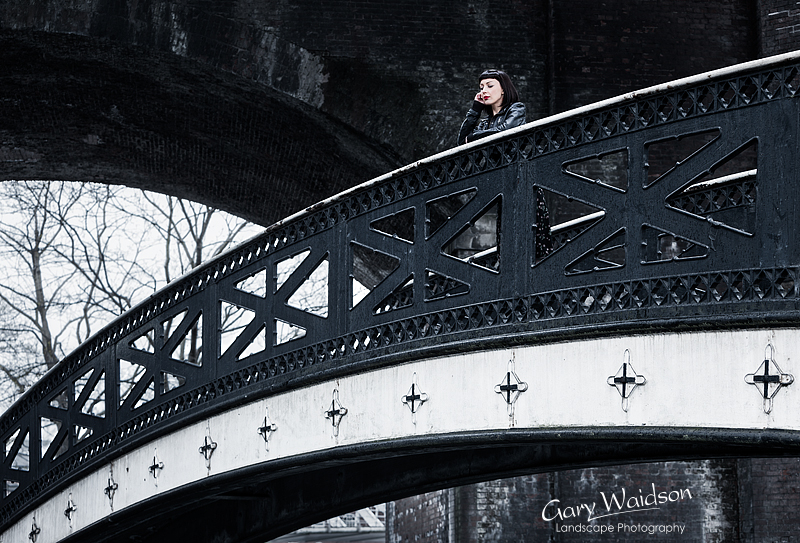 Laura on the Bridge.  Photography by Gary Waidson