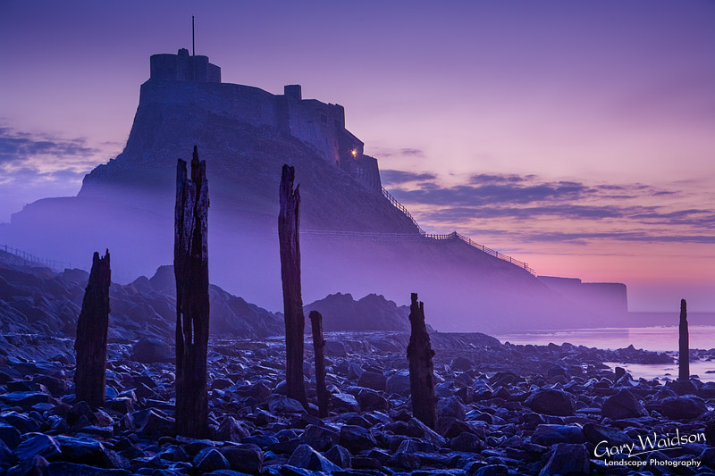 Lindisfarne Castle Pier in Mist. Commended in the Landscape Photographer of the Year 2012 awards. Fine Art Landscape Photography by Gary Waidson