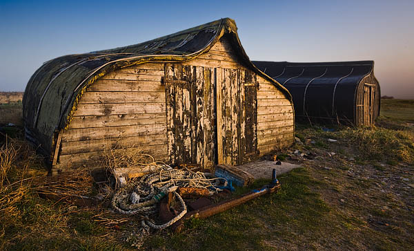 Lindisfarne Boat Huts. Fine Art Landscape Photography by Gary Waidson