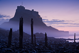 Lindisfarne Castle Pier in Mist.  Shortlisted for Take a View. The Landscape Photographer of the Year 2009.  Fine Art Landscape photography by Gary Waidson.