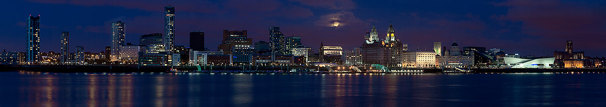 Liverpool by night. Fine Art Landscape Photography by Gary Waidson