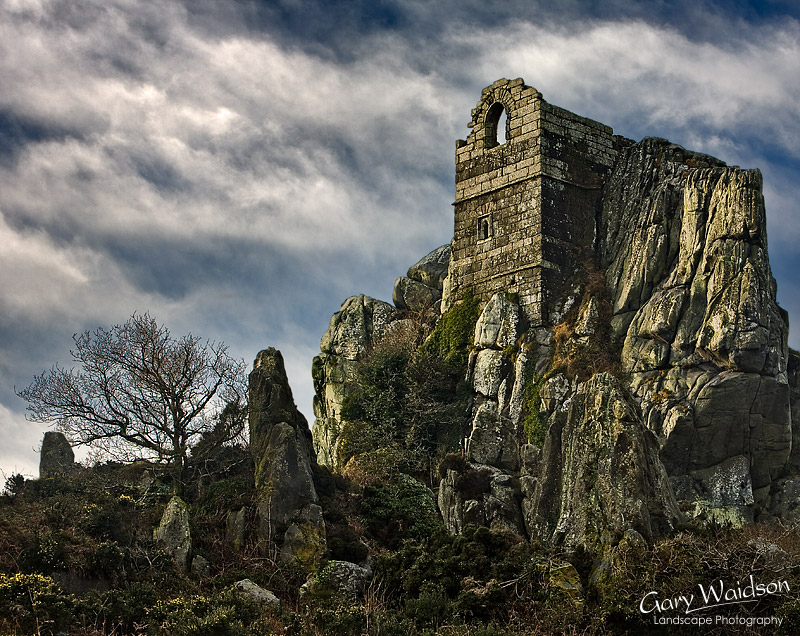 Roche Rock, St Michael's Chapel. Fine Art Landscape Photography by Gary Waidson