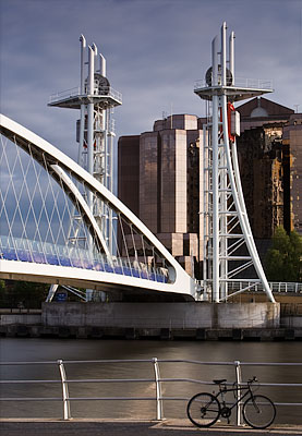 Salford Quays with Bicycle. Fine Art Landscape Photography by Gary Waidson