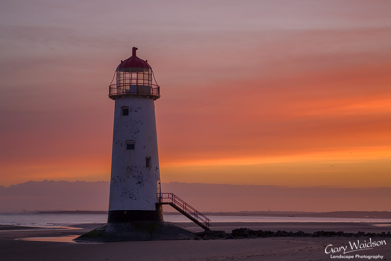 Point of Ayr lighthouse on Talacre Beach. Fine Art Landscape Photography by Gary Waidson