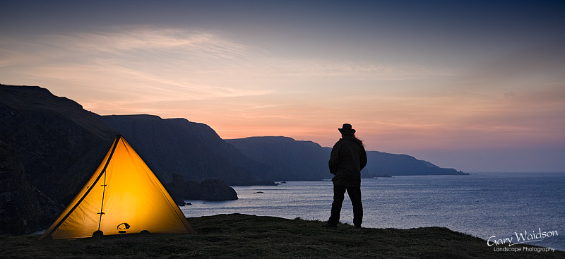 Wild Camping, St. Abb's Head. Highly Commended, Take a View. The Landscape Photographer of the Year 2009. Living the View.  Fine Art Landscape photography by Gary Waidson.