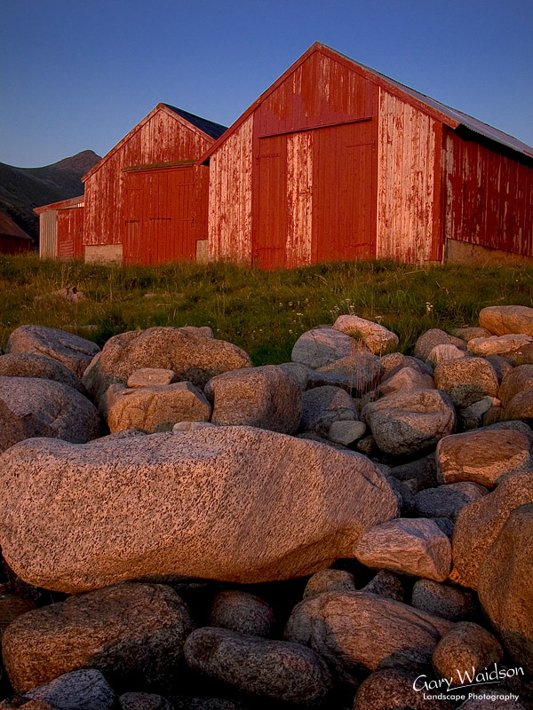Boat Houses at Unstad. Fine Art Landscape Photography by Gary Waidson