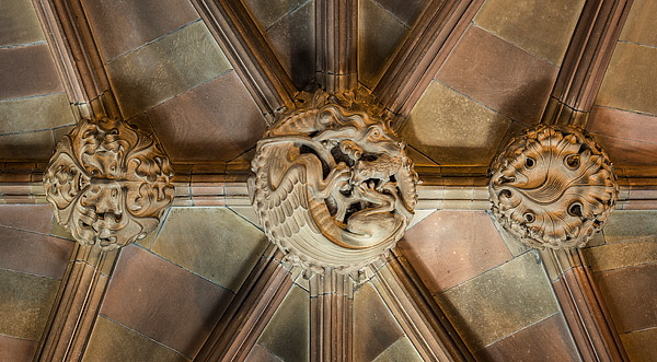 John Ryland's Library, Roof-Bosses. Fine Art Photography by Gary Waidson